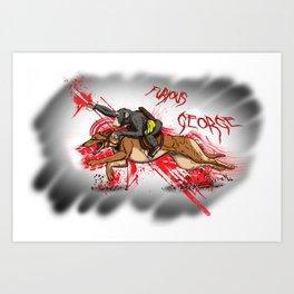 Furious George Art Print