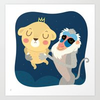 king Art Prints featuring King by Maria Jose Da Luz