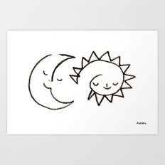 moom and snuh Art Print