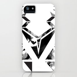 Black geometric animal iPhone Case