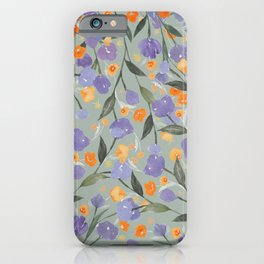 Tiny Blooms, Leafs and Vines iPhone Case