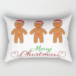 Merry christmas gingerbread men Rectangular Pillow
