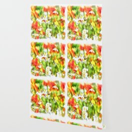 The Colors Of Spring On A Sunny Day Watercolor Wallpaper