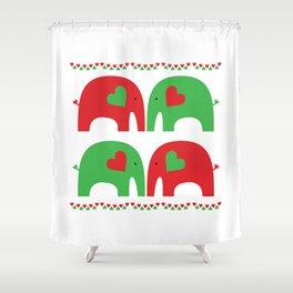 Elephant Fiesta Shower Curtain