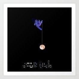 Moon Yo-yo Art Print