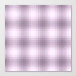 Lilac Gingham Check Canvas Print