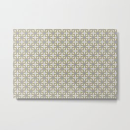 Abstract decorative textured mosaic background.  Metal Print