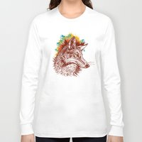 coyote Long Sleeve T-shirts featuring coyote by youareconstance