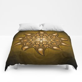 Pure gold mandala Comforters
