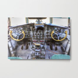 Ilyushin IL-18 Cockpit Metal Print