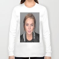 lindsay lohan Long Sleeve T-shirts featuring Lindsay Lohan by Neon Monsters