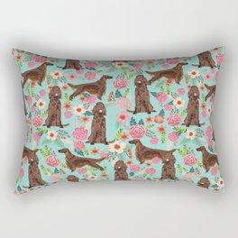 Irish Setter dog breed floral pattern gifts for dog lovers irish setters Rectangular Pillow
