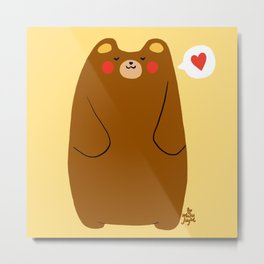 Bear heart for you Metal Print