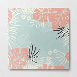 Tropical pattern 043 Metal Print