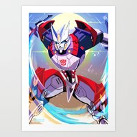transformers Art Prints featuring Transformers: Drift by Esuerc Voltimand