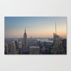 New York City, Empire State Building at dusk Canvas Print