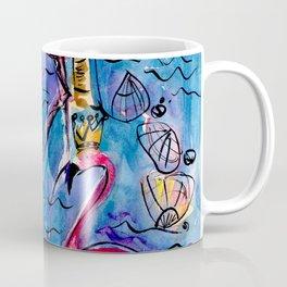 Flip Flops and Flamingos Coffee Mug