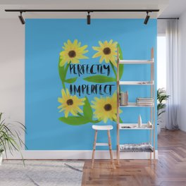 Perfectly imperfect classic blue background Wall Mural