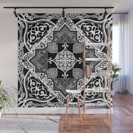 Ethnic Folk Art Boho Style Mandala  Wall Mural