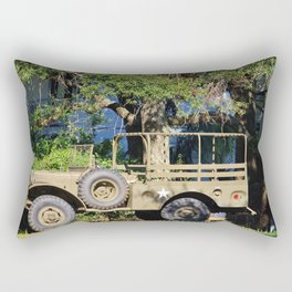 Military Jeep Rectangular Pillow
