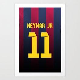 Neymar Jr. Jersey Art Print