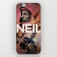 neil gaiman iPhone & iPod Skins featuring Neil. by David
