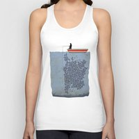 gladiator Tank Tops featuring FISH by karakalemustadi