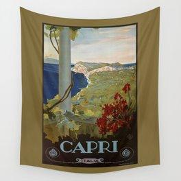 Isle of Capri Italian travel ad Wall Tapestry