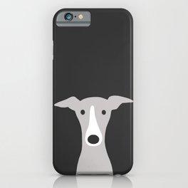 Cute Greyhound, Italian Greyhound or Whippet Cartoon Dog iPhone Case