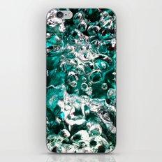 Turquoise Bubbles Photograph Macro photo iPhone & iPod Skin