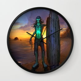Toxic Surfer Wall Clock