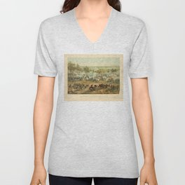 Civil War Battle of Gettysburg July 1-3 1863 by Paul Philippoteaux Unisex V-Neck