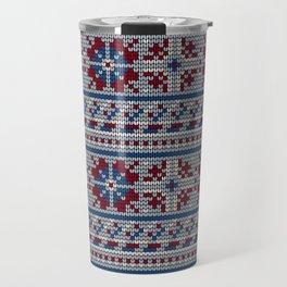 Pattern in Grandma Style #18 Travel Mug