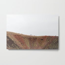 Walking on Etna Volcano in Sicily, Italy Metal Print
