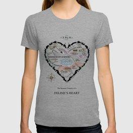 Feline Heart Map T-shirt