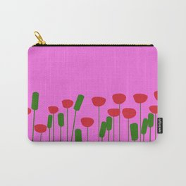Poppies in pink Carry-All Pouch