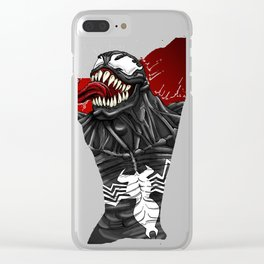 The black symbiote Clear iPhone Case