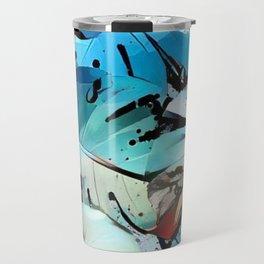 Blue monster Travel Mug