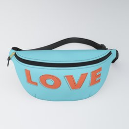 Love is all - typography Fanny Pack