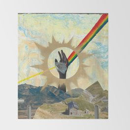 Reaching to Enlightenment Throw Blanket