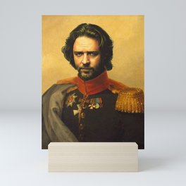 Russell Crowe - replaceface Mini Art Print