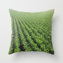 Pattern in green Throw Pillow