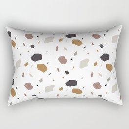 Artisan Terrazzo Abstract Modern Geometric Pattern Rectangular Pillow