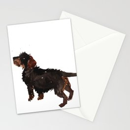 watercolor dog vol3 dachshund Stationery Cards