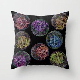 Octopus Dots Throw Pillow
