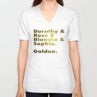 golden girls V-neck T-shirts featuring Golden girls are awesome by junaputra