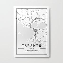 Taranto Light City Map Metal Print