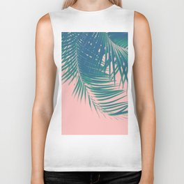 Palm Leaves Blush Summer Vibes #2 #tropical #decor #art #society6 Biker Tank