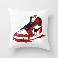 air jordan Throw Pillows featuring Air Jordan I by shoooes