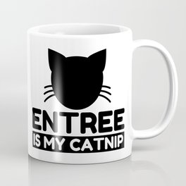 entree Lover Funny Cat Gifts Coffee Mug